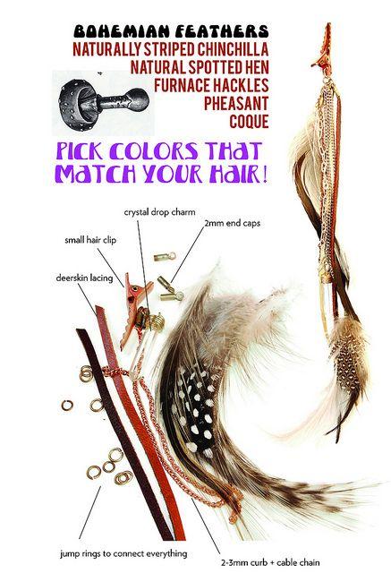Feather hair accessory DIY <3 :D <3