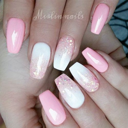 34 Pink And White Nails Trends For Spring And Summer 2020 Pink Nails Ombre Nails Pink Nail Colors