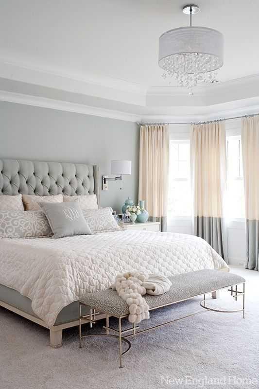 A Neutral Serene Master Bedroom, Small Bedroom Chandelier Ideas