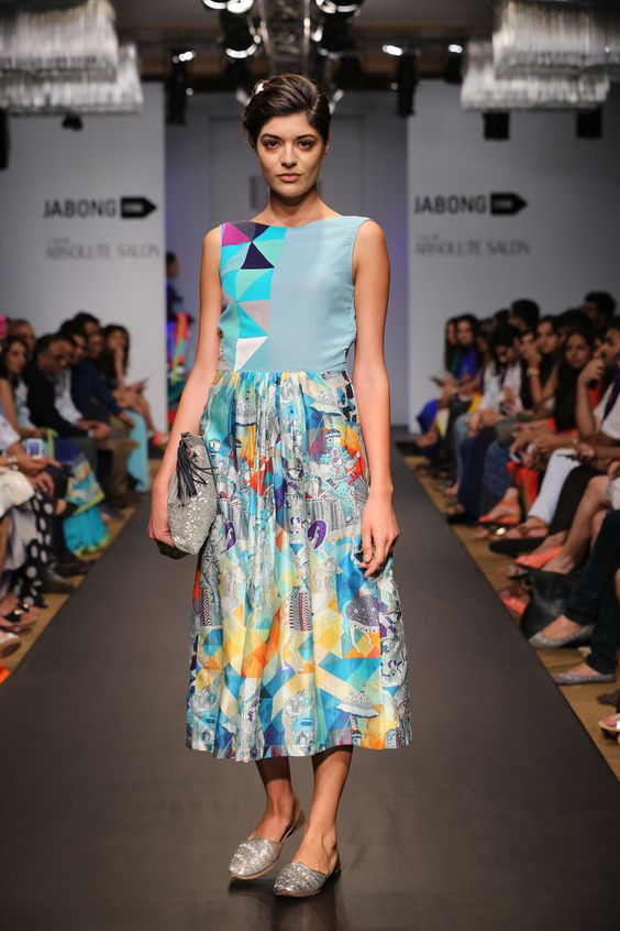 Mosaic Sultanat Babydoll dress | www.thequirkbox.com