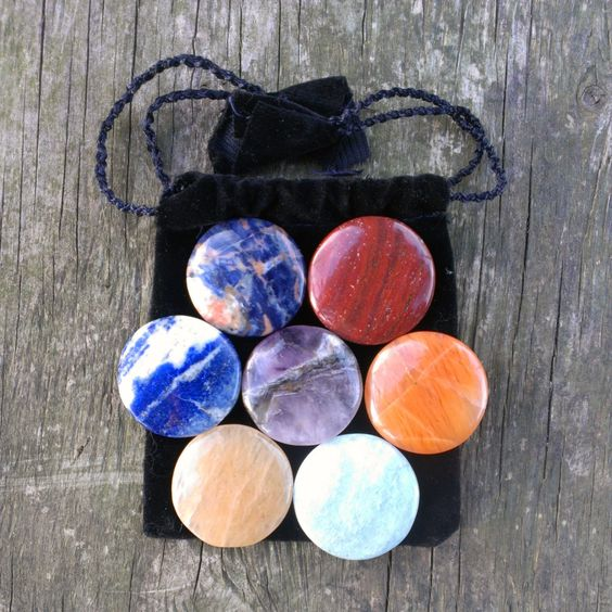 7+Piece+CHAKRA+HEALING+STONES+Set+by+KEEPINITZEN+on+Etsy,+$21.99