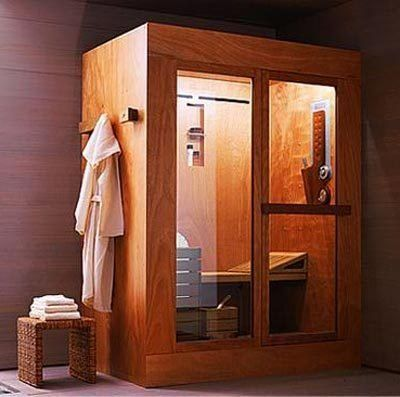 5 compact home saunas pinterest aesthetics apartment for Master bathroom with sauna