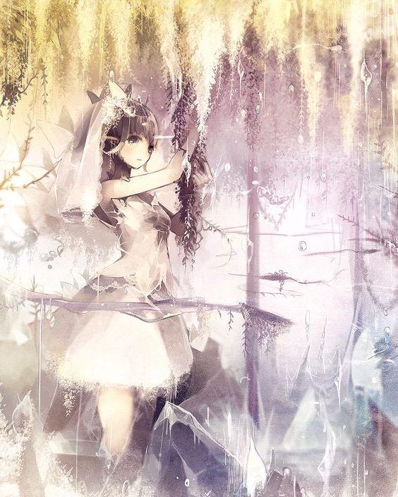 Garota Anime Kawaii-Noiva