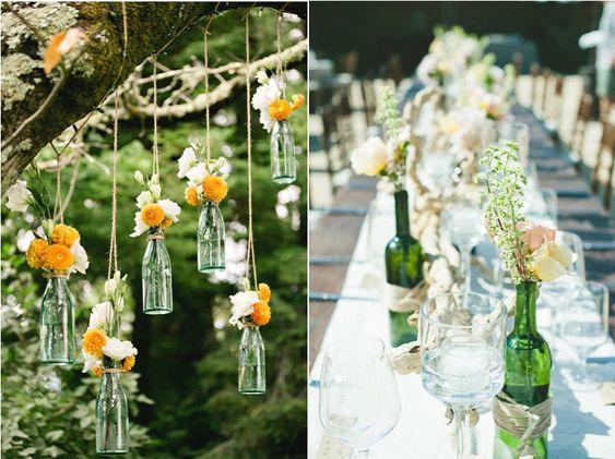 Inspiration d co r cup des bouteilles en verre inspiration tables et d coration - Decoration de bouteille en verre ...
