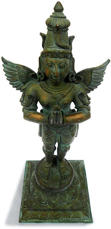 Image from http://www.buddhamuseum.com/bronze-buddha_2/hoysala-garuda-ad49.jpg.