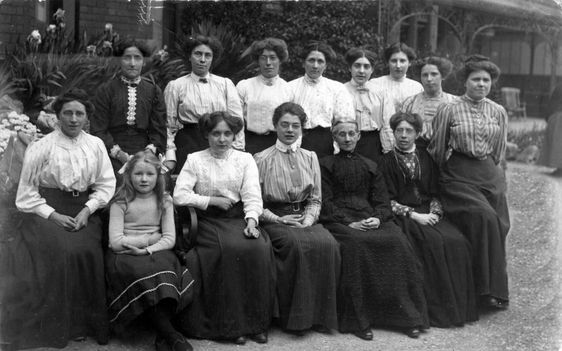 """image above: Old undated photograph, marked on back """"Lilly on the Downs, Clifton""""  Being a domestic servant often included a heavy workload, and the risk of sexual advances from employers or other servants.  Men relied on working class women to run their homes smoothly, and employers often looked to these working class women for sexual partners.   Many upper class men took advantage of their servants, leading a life full of promiscuity.  These servants were provided with food, clothing…"""