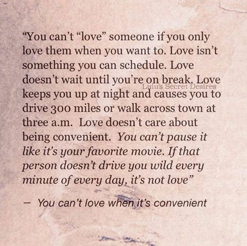 Love #105: You Can't Love Someone If You Only Love Them