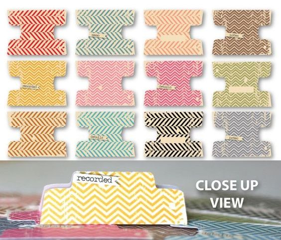 """Chic Tags """"On the Clock"""" File Tabs - $3.99 (12) @ Blue Moon Scrapbooking"""