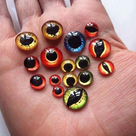 Farbe Ihr eigenes schlechtes Augen-BlumeCabochons für Schmucksachen, die ~ die Sicke Gem Journal