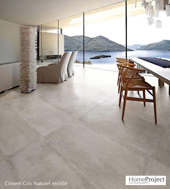 Carrelage Ciment Gris 60 X 120 Cm Lappato Rectifie Carrelage Interieur Carrelage Ciment Carrelage Salon