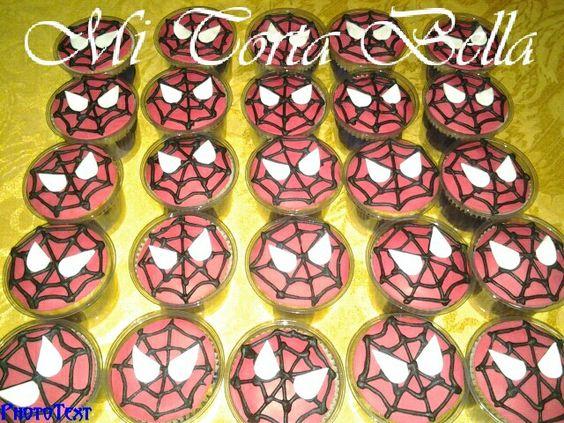Cupcakes del Hombre araña