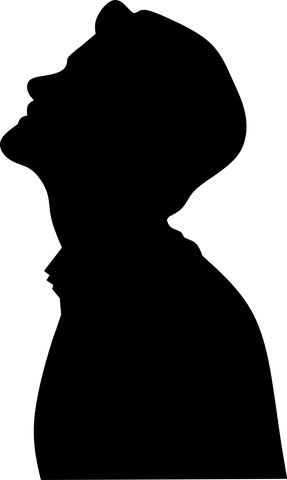 Man, Face, Silhouette, Thinking, Looking