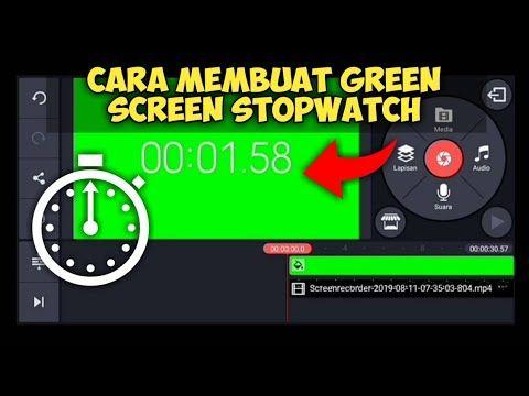 Cara Membuat Video Green Screen Stopwatch Di Kinemaster Youtube Stopwatch Video Grafis