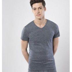 Camiseta hombre manga corta lana y algodón orgánico Living Crafts