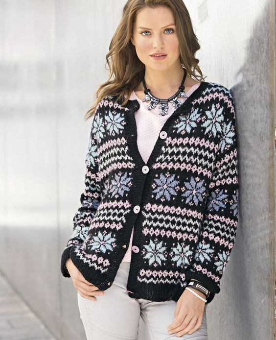 Вязаные пуловеры жакеты