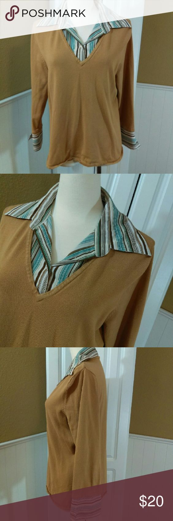 """Career Casual Top No flaws, like new, only worn once  70% rayon, 30% nylon  24"""" length bay studio Tops Blouses"""