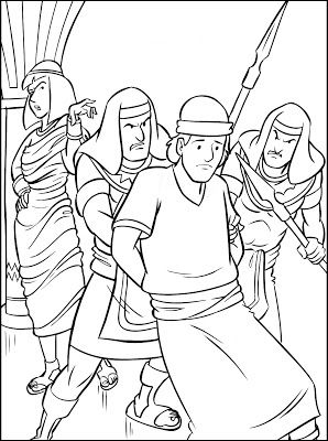 coloring pages joseph in jail - photo#22