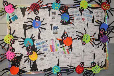 Spiders: A Creepy Crawly Extravaganza (bulletin board idea)