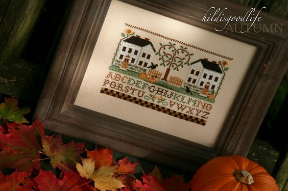 Hildi's Good Life: Two White Houses in Autumn
