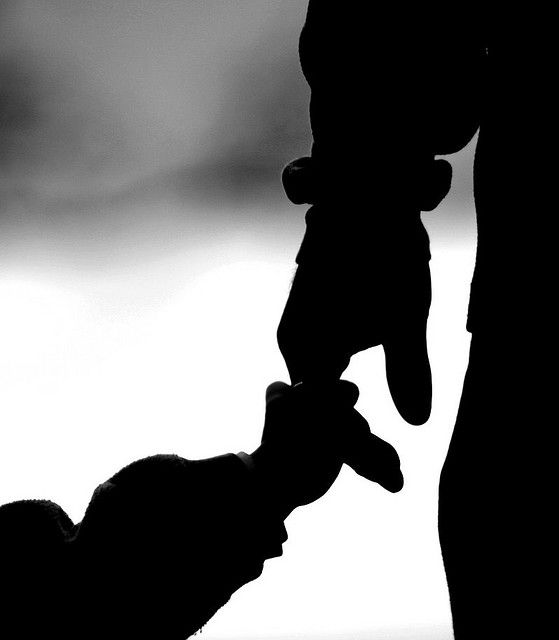 Father/daughter I like the black and white, maybe zoomed out some so we can tell who it is, though.: