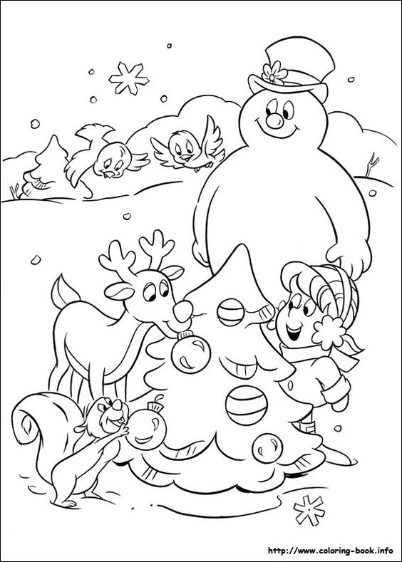 Frosty the snowman coloring picture christmas winter for Frosty the snowman coloring pages