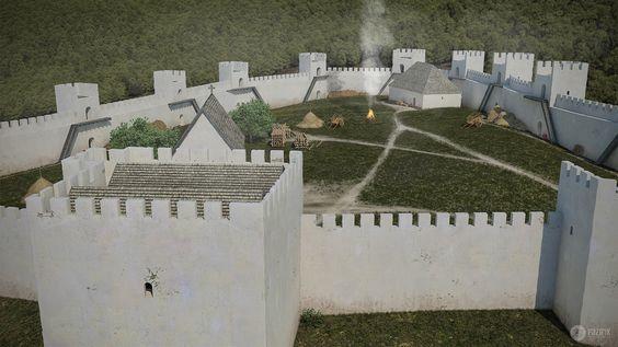 Az államalapítás korának várai sokszor római erődök újrahasznosításával jöttek létre. Ennek tipikus példája Visegrád ispáni vára....