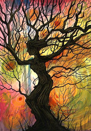 Tree of Life Series - 'Dusk' by Cherie Roe Dirksen: