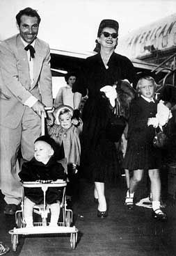 Bette Davis, Gary Merrill, and children.