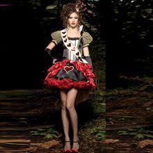 Sexy regina di cuori costumi donne di età alice in wonderland partito cosplay fantasie vestito rosso fantasy all'ingrosso(China (Mainland))