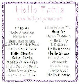 Hello Literacy Fonts
