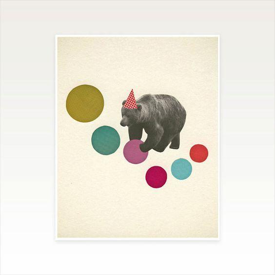 Lunatique Childrens Art - Birthday Bear