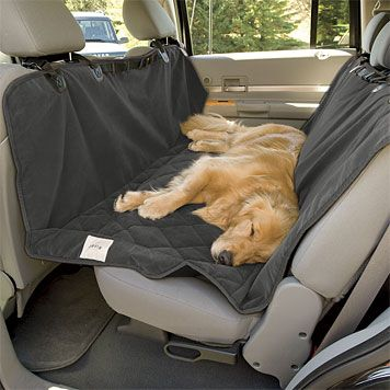 """Roll out the red (or """"slate"""") carpet for Maude, she can travel to the groomer in style and mom's car won't get trashed."""