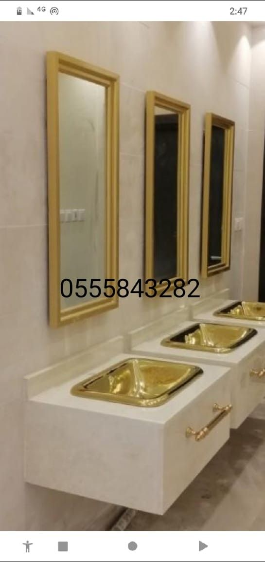 مغاسل رخام حمامات الرياض Decor Sink Furniture