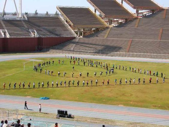 Los estadios más raros del fútbol,  El estadio de Mmabatho en Sudáfrica es uno de los más curiosos del país debido a la organización de sus gradas. Muchas de ellas no miran hacia la zona de césped.