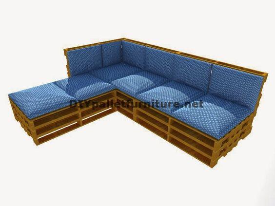Muebles de palets gu a paso a paso para hacer f cilmente - Hacer sofas con palets ...