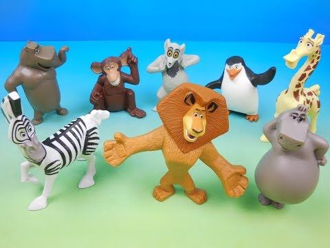 2008 Madagascar Escape 2 Africa Set Of 8 Mcdonalds Happy Meal Kids Movie Toys Video Review Youtube Kid Movies Happy Meal Mcdonalds Happy Meal Toys