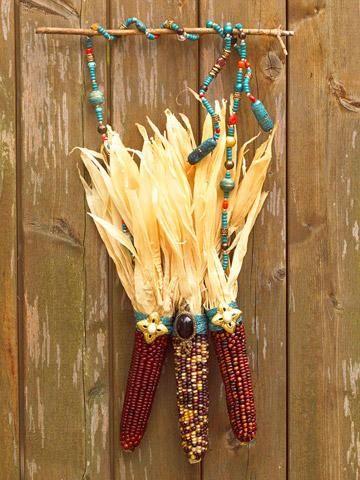 beads and dried corn