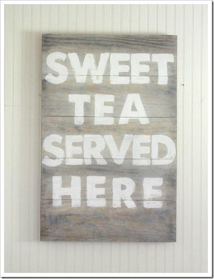 sweet tea served here