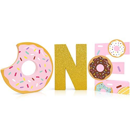 Donut Grow Up Balloons letter banner party decorations wedding donut sign favors donut theme birthday smash shoot photo prop backdrop