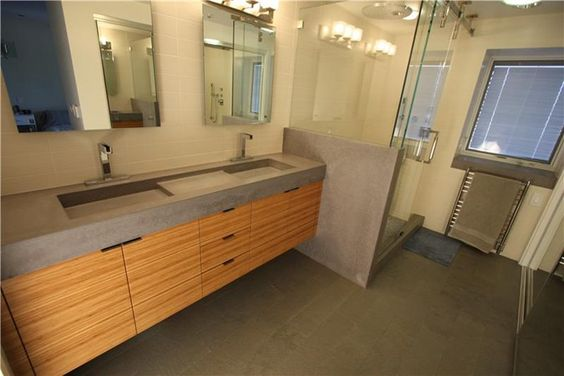 Modern Concrete Bathroom Pourfolio Custom Concrete In San Diego