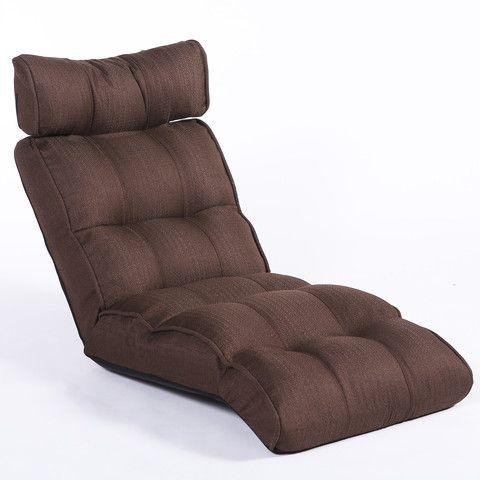 Basic Sofa Chair Recliner, Brown Linen Fabric