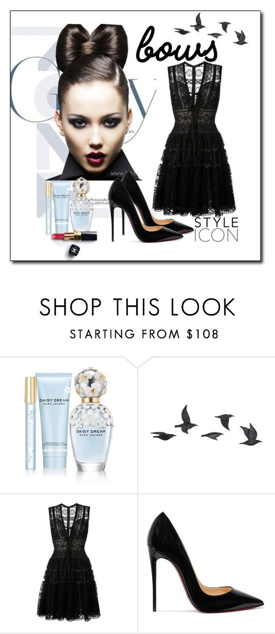 """Bow Kind-of-Girl"" by sljohn84 ❤ liked on Polyvore featuring Marc Jacobs, Jayson Home, Elie Saab, Christian Louboutin, Chanel and bows"