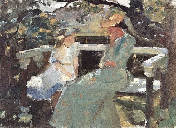 Anne Ancher -On the Garden Bench Anna Helga Thorup