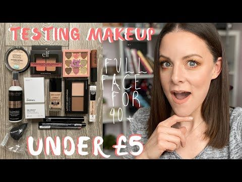Full Face Of Makeup Under 5 For 40 Testing Out Budget Drugstore Makeup Tutorial Uk Review In 2020 Drugstore Makeup Tutorial Drugstore Makeup Full Face Makeup