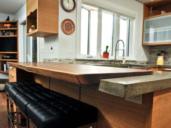 Concrete Slab Kitchen Countertop : Wood slab, Kitchen countertops and Concrete kitchen countertops on ...