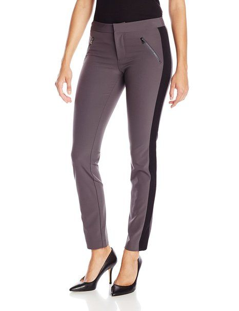 Rebecca Taylor Women's Ava Techy Slim Pant, Panther, 0