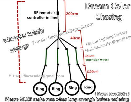 Set Of 4x 15 5 Ip68 Dream Color Chasing Illuminated Led Wheel Lights Remote Ctr Rim Light Lights Remote