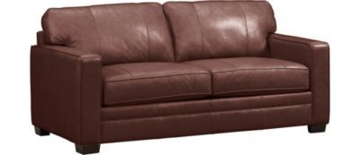 "Living Rooms, Grant Full Sleeper (Galaxy Cream color 72"" $1499 top-grain leather, Living Rooms 