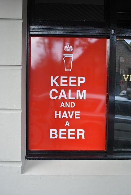 Fique Calmo e Tome uma Cerveja