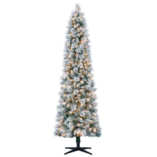 7ft Pre Lit Artificial Christmas Tree Clear Lights By Ashland Slim Christmas Tree Slim Artificial Christmas Trees Christmas Tree Clear Lights